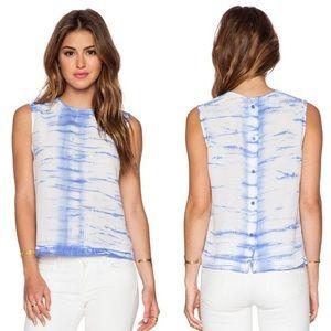 GORGEOUS Equipment Reagan Tie Dye Silk Blouse - M